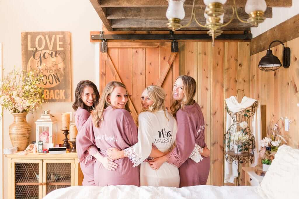 West Virginia brides and bridesmaids. Photographed by Katelyn Workman Photography.
