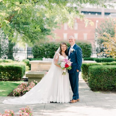 Pups and Pastels for this Charleston, West Virginia Couple